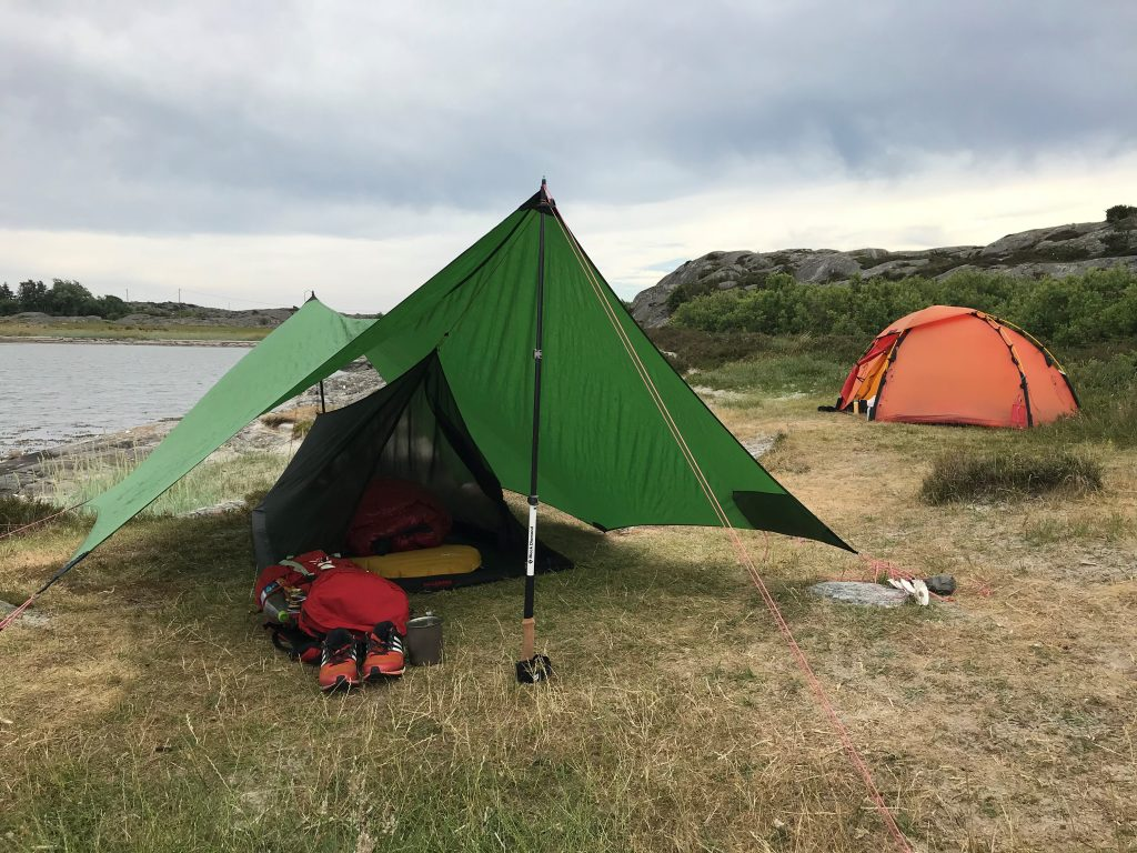 Mesh tent and Hilleberg tarp