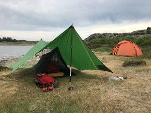 Mesh tent and Hilleberg tarp