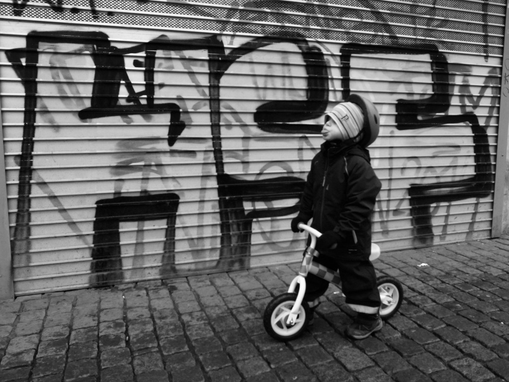 Lite street photo inspirerad cykelbild från Göteborg